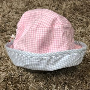 Please Mum Reversible Gingham Sun Hat ~ Size S